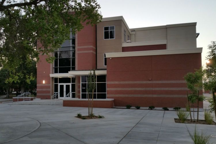 McLane High School 3-Story Concrete Building with site concrete